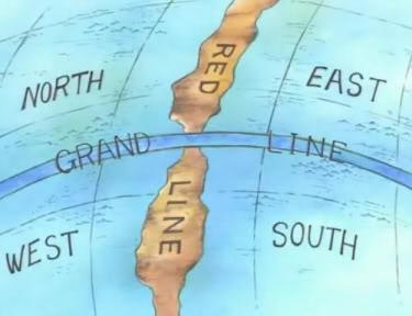 """Карта мира в манге """"One Piece"""""""