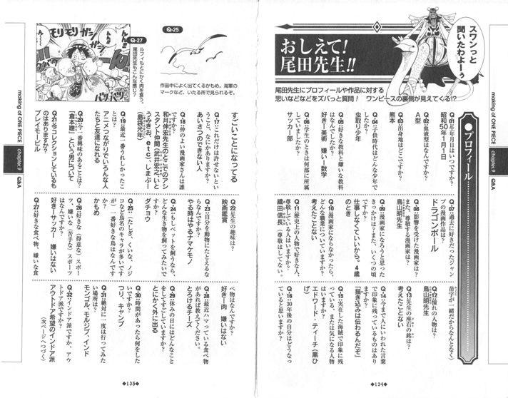 """фрагмент интервью """"Расскажите! Ода-сэнсэй!!"""" © Эйитиро Ода «One Piece: Blue Grand Data File»"""