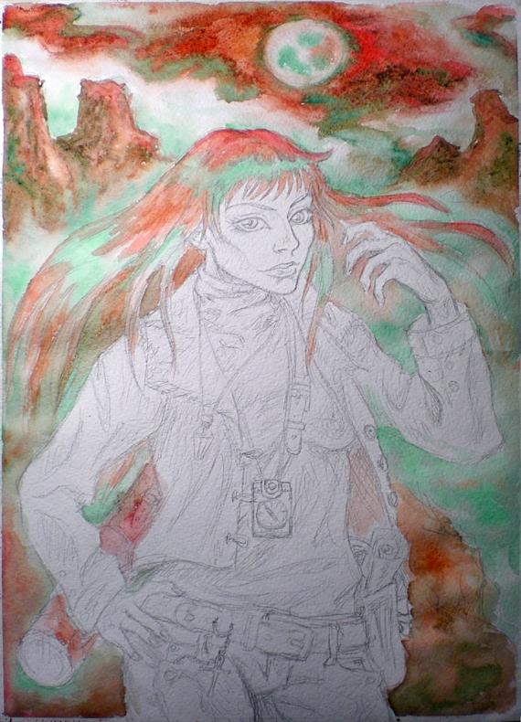 Вводим красный, зелёный и коричневый цвета © Nigami
