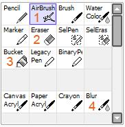 инструменты для подмалёвка
