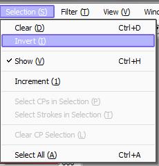 Selectoin (Выделение) / Invert(Инвертировать)