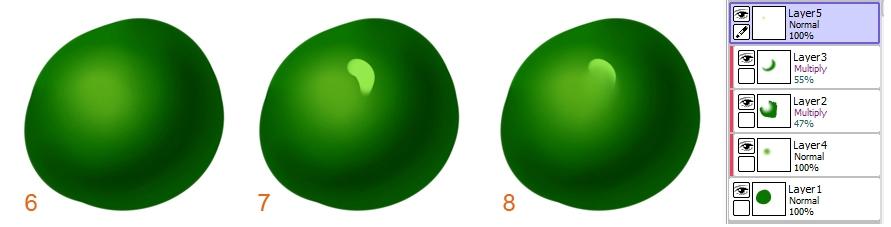 этапы создания глянцевой поверхности