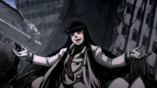 "граф ""Girlkard"" — ""Hellsing Ultimate"" OVA 10, режиссёр Ясухиро Мацумура"