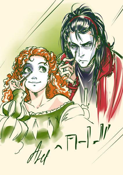 """Арт для Хеллоуина — персонажи манги """"Симфония для Виолетты"""" © Алеф"""
