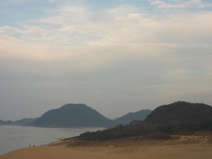 Дюны Тоттори, вид с перевала Хребет лошади