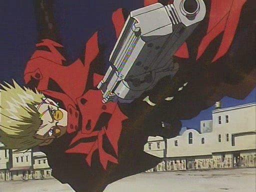 """аниме """"Триган"""" (5-ая серия), режиссёр Сатоси Нисимура"""
