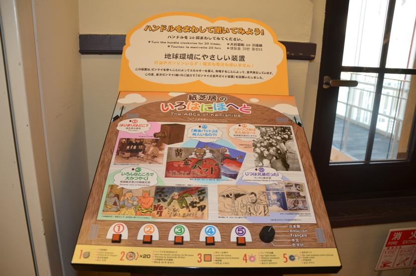 Автомат, рассказывающий о бумажном театре камисибай © фото Юки Магуро