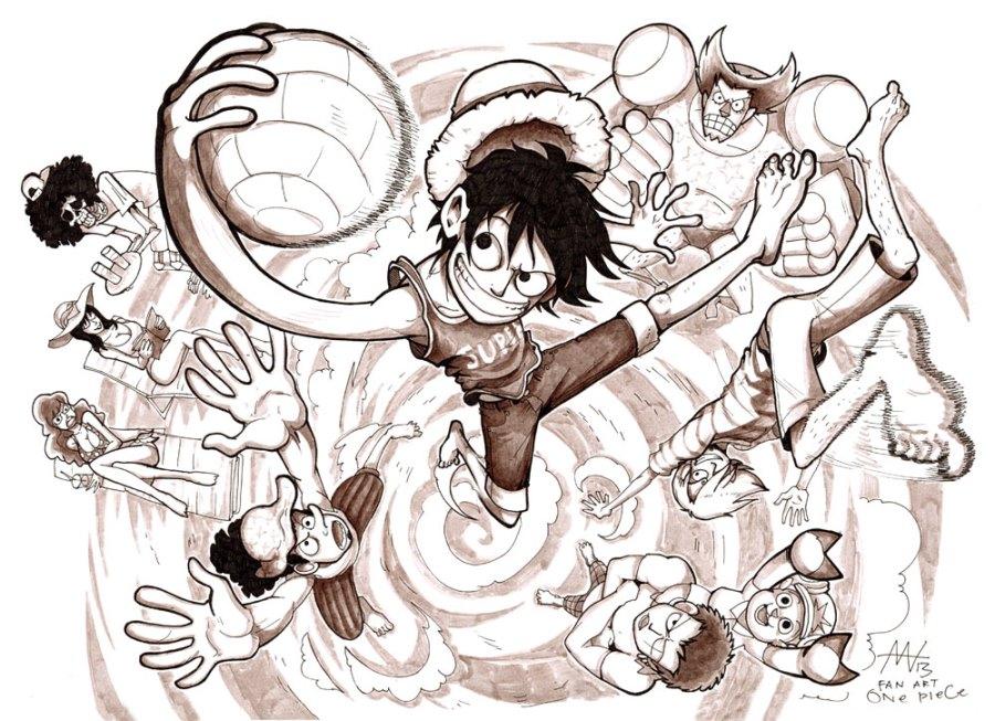 "Фан-арт по манге ""One Piece"" © Маша Ко"