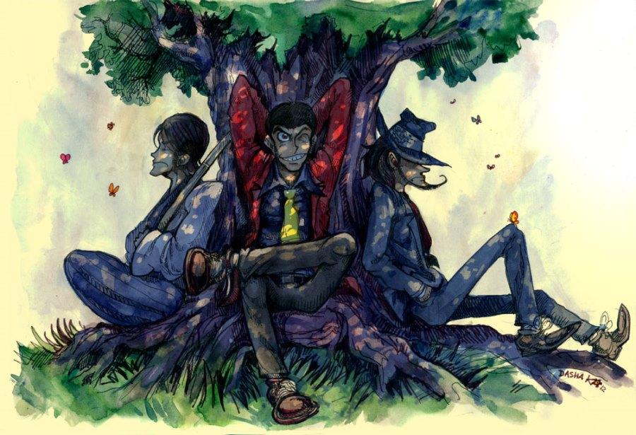 Фан-арт по Люпену Третьему © Даша Ко