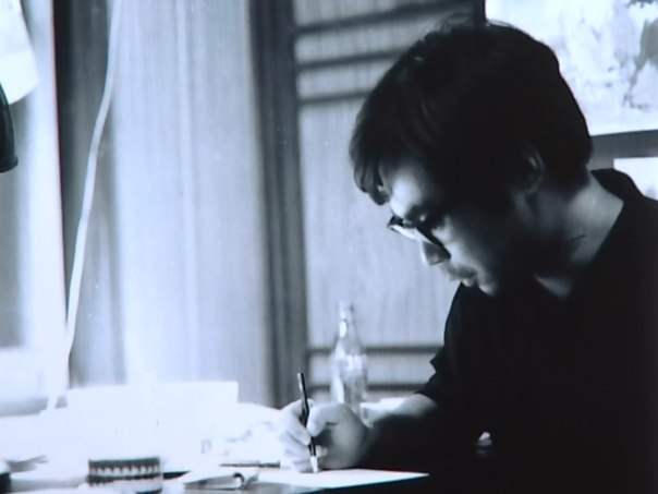 "молодой Хаяо Миядзаки, 1965 год, фазовщик студии ""Тоэй""."