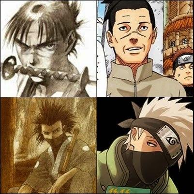 Мандзи и Ирука (вверху), Магацу и Какаси (внизу)