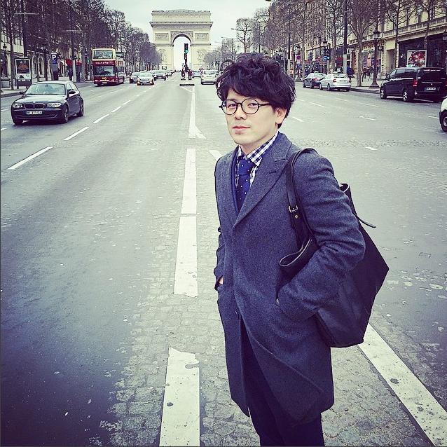 Синъити Сакамото в Париже, 2015.