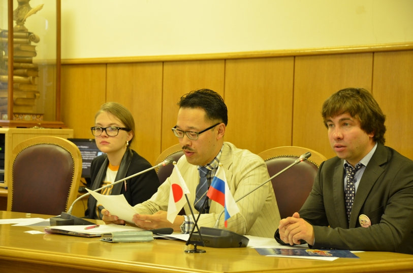 Александр Раевский, Окабэ Ёсихико и Елизавета Самаранова © фото Мангалекторий