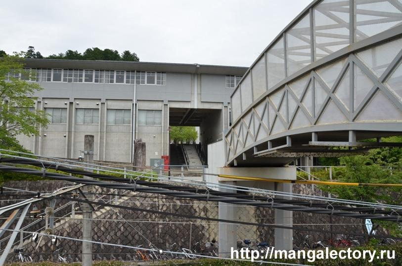 Мост через ж/д станцию Киото Сэйка дай-маэ © фото Мангалекторий