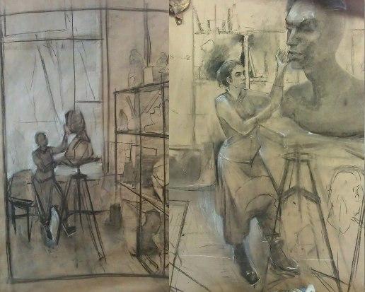 Эскизы Анны Буренковой к дипломному проекту