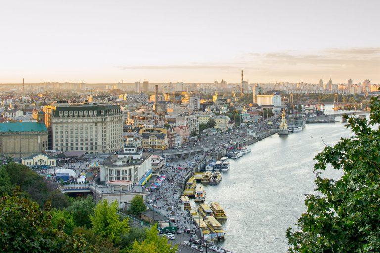 Вид на реку Днепр в Киеве