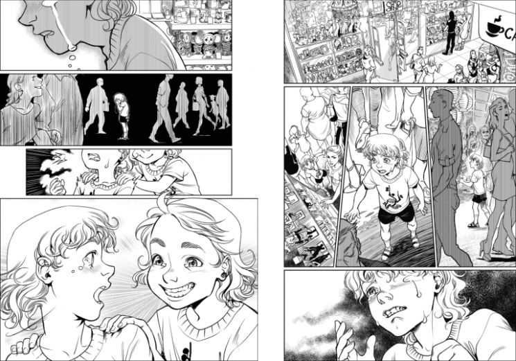 """эмоции, бьющие через край на страницах манги """"Там, куда летит цветок сакуры"""""""