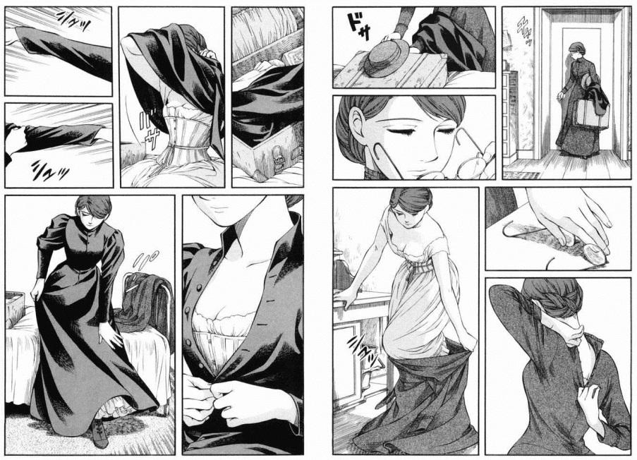 """""""Emma"""", том 5 (Мори Каору, издательство Enterbrain), стр. 76-77."""