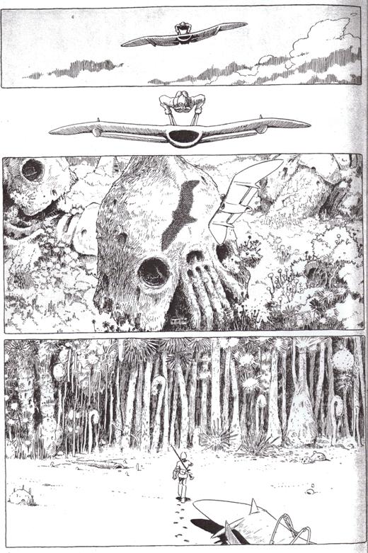 «Навсикая из Долины ветров», том 1, стр. 9.