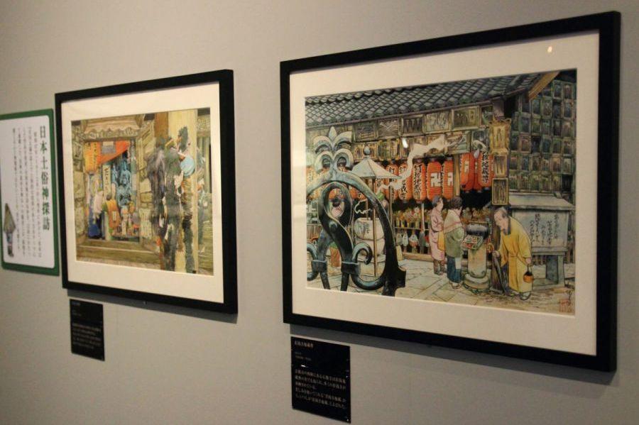 """слева: Столб дакицуки, журнал """"Gekkan Taiyo"""" (『月刊太陽』, 1972 г.). Справа: божество Кугинуки Дзидзо, журнал """"Gekkan Taiyo"""" (1973 г.)  ⓒ фото 水木プロダクション"""