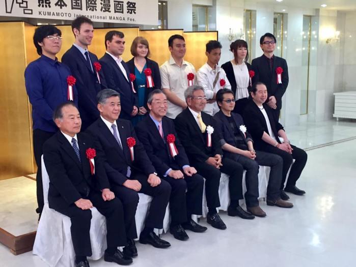 Памятное фото с организаторами фестиваля