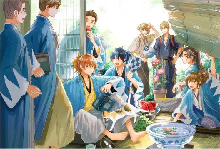 Синсэнгуми в манге Тоногаи Миюки «Полосатый обед»