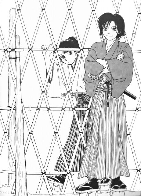 Манга «Сияющий ветер» Ватанабэ Таэко: Сэй и Окита