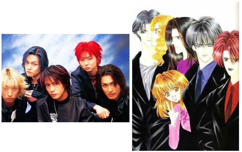 Группа «Λucifer» и ее «прототип» из манги Синдзё Маю «Чувственные слова»
