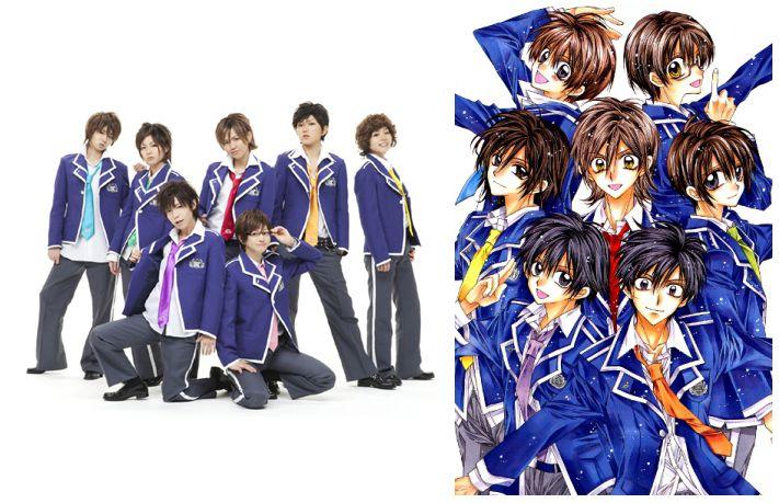 Группа «Fudanjuku» в реальности и в манге «Истории Фудандзюку» Танэмуры Арины