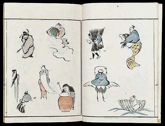 Кувагата Кэйсай «Рякуга сики» («Способ эскизного рисования», 1795)