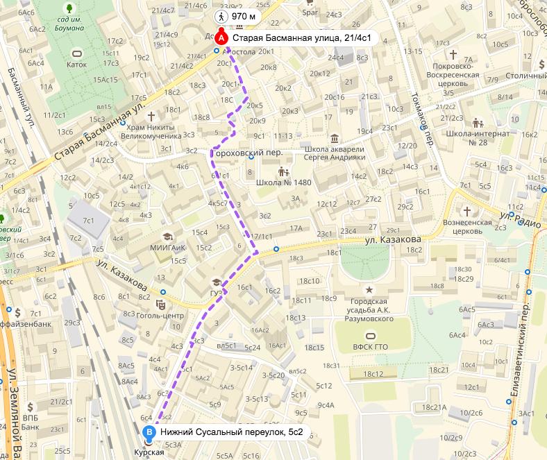 Проход в ИКВИА от метро Курская