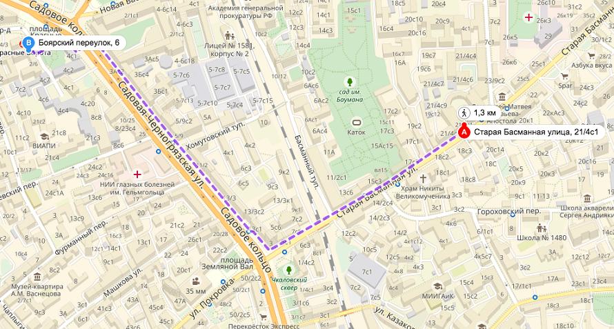 Проход в ИКВИА от метро Красные ворота
